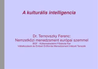A kulturális intelligencia