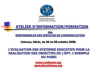 ATELIER D�INFORMATION/FORMATION
