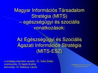 a stratégia készítést vezette:  Dr. Vokó Zoltán szerkesztés: Dr Apjok András