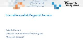 External Research  Programs Overview