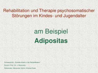 Rehabilitation und Therapie psychosomatischer Störungen im Kindes- und Jugendalter