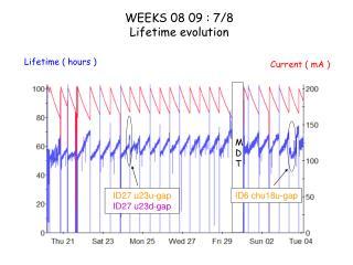 WEEKS 08 09 : 7/8 Lifetime evolution