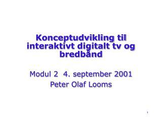 Konceptudvikling til interaktivt digitalt tv og bredbånd