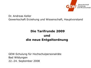 Dr. Andreas Keller Gewerkschaft Erziehung und Wissenschaft, Hauptvorstand