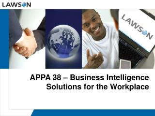 APPA 38 – Business Intelligence Solutions for the Workplace