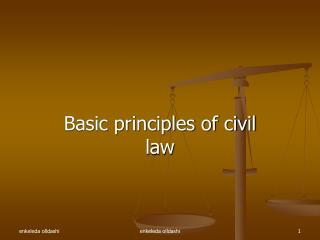 Basic principles of civil law
