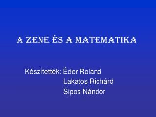 A Zene és a matematika