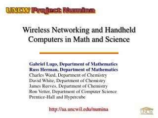 Wireless Networking and Handheld Computers in Math and Science