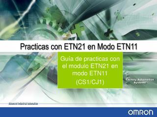 Practicas con ETN21 en Modo ETN11