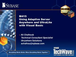 M415 Using Adaptive Server Anywhere and UltraLite with Visual Basic