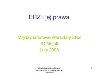 ERZ i jej prawa