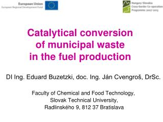 Catalytical conversion  of municipal waste  in the fuel production