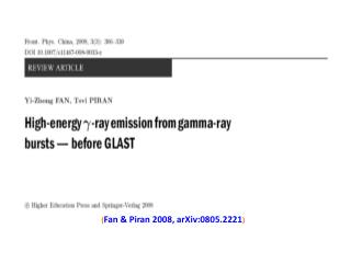 High energy  (20MeV-TeV)  photon emission from Gamma-ray Bursts