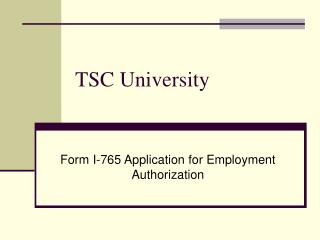 TSC University