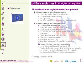 Normalisation et réglementation européenne Ce qui change pour les ouvrages