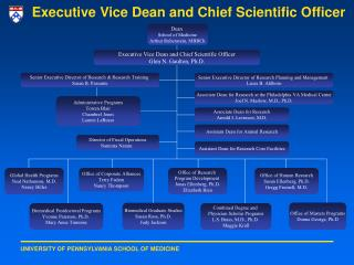 Executive Vice Dean and Chief Scientific Officer