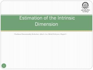 Estimation of the Intrinsic Dimension