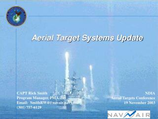 Aerial Target Systems Update