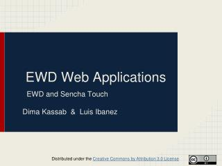 EWD Web Applications