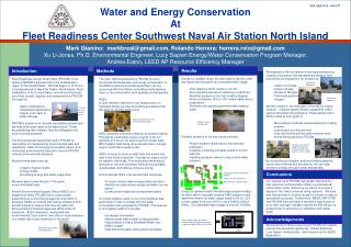Water and Energy Conservation At Fleet Readiness Center Southwest Naval Air Station North Island
