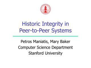 Historic Integrity in Peer-to-Peer Systems