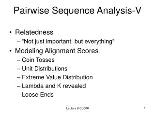Pairwise Sequence Analysis-V