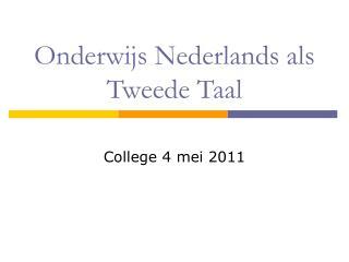 Onderwijs Nederlands als Tweede Taal