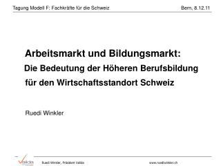 Arbeitsmarkt und Bildungsmarkt: