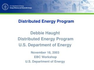 Distributed Energy Program