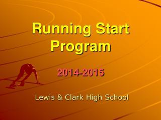 Running Start Program 2014-2015
