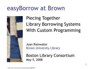 easyBorrow at Brown