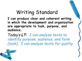 Writing Standard
