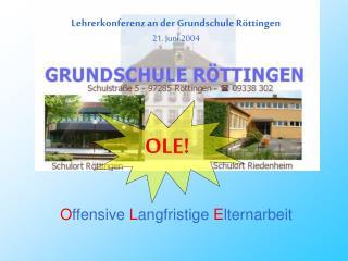 Lehrerkonferenz an der Grundschule Röttingen 21. Juni 2004