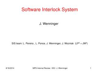 Software Interlock System