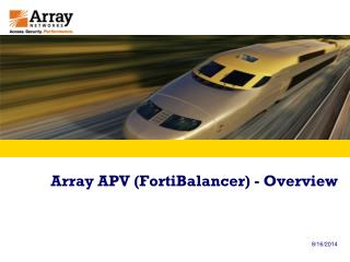 Array APV (FortiBalancer) - Overview
