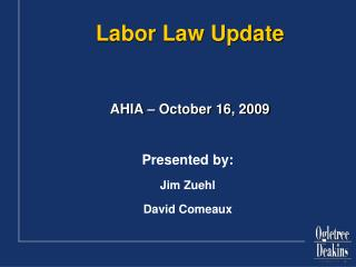 Labor Law Update