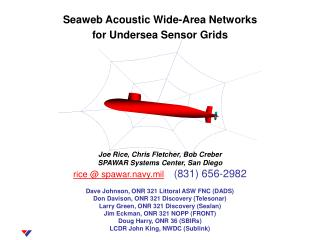 Seaweb Acoustic Wide-Area Networks  for Undersea Sensor Grids