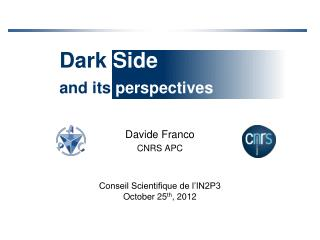 Dark  Side and its  perspectives