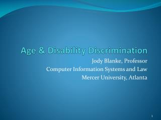 Age & Disability Discrimination