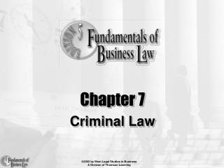 Chapter 7 Criminal Law