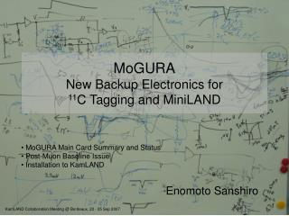 MoGURA New Backup Electronics for 11 C Tagging and MiniLAND