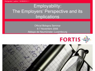 Employability: The Employers' Perspective and its Implications