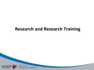 Research and Research Training