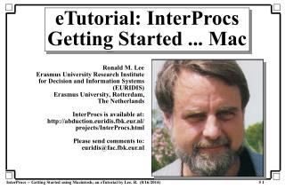eTutorial: InterProcs Getting Started ... Mac