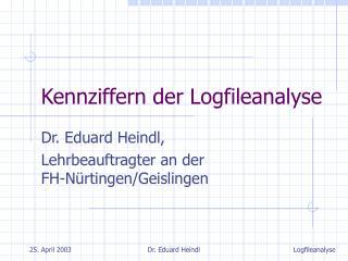 Kennziffern der Logfileanalyse
