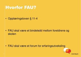 Hvorfor FAU?