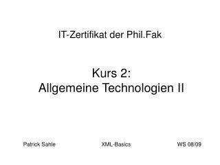 IT-Zertifikat der Phil.Fak