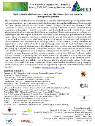 Dipartimento Ricerca Innovazione I.C.T Provincia Autonoma di Trento