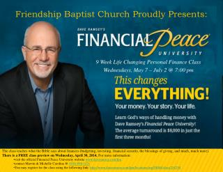 Friendship Baptist Church Proudly Presents:
