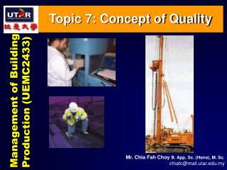 Management of Building Production (UEMC2433)
